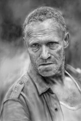Walking Dead Merl Dixon Art Print