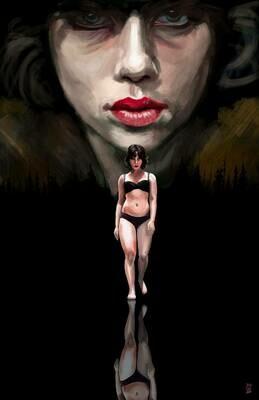 Scarlett Johansson Under the Skin Art Print