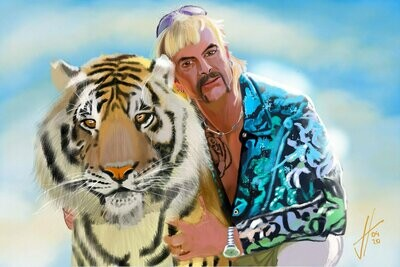 Joe Exotic Tiger King Art Print