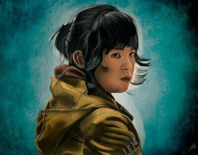 Star Wars Kelly Marie Tran as Rose Tico Art Print