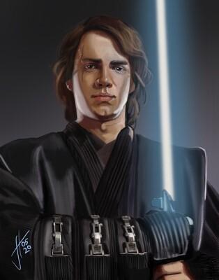 Hayden Christiansen Anakin Skywalker Art Print