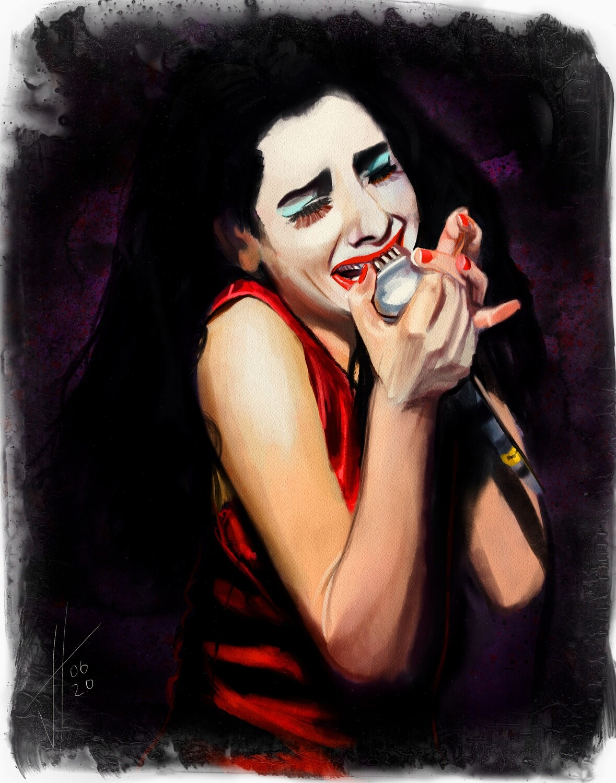 PJ Harvey Portrait Art Print