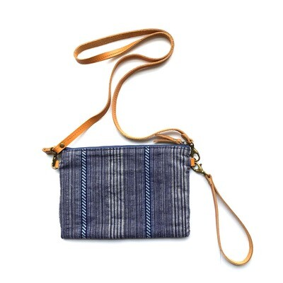 Micro Crossbody,Mini Crossbody, Small Pouch, Casual Bag, Lightweight Bag,The blue handmade weaving fabric of National style