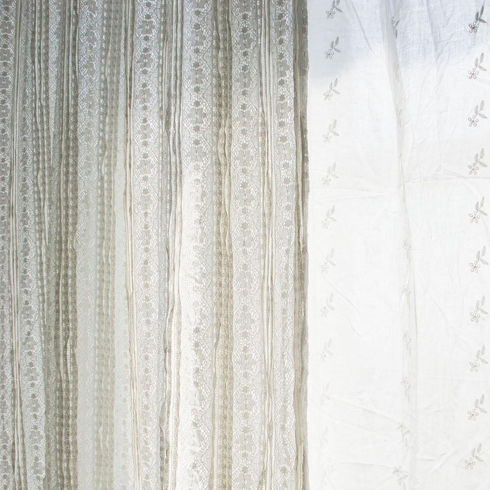 """Lace curtains-Cotton-W55"""" x H108""""/ W140cm x H275cm"""