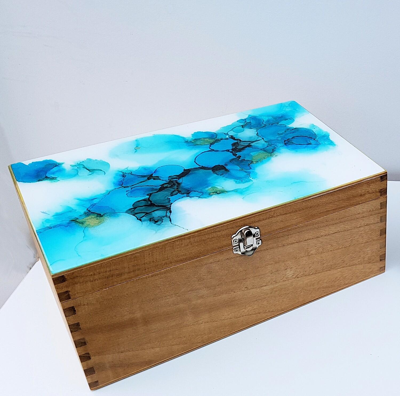 Decorative wooden storage box