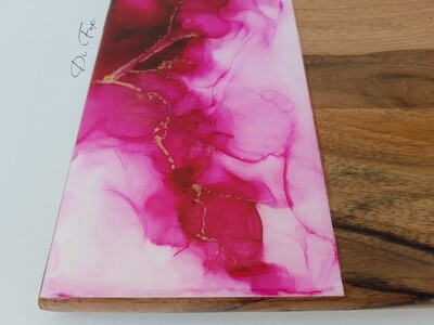Pink and Gold Wooden Cheese board