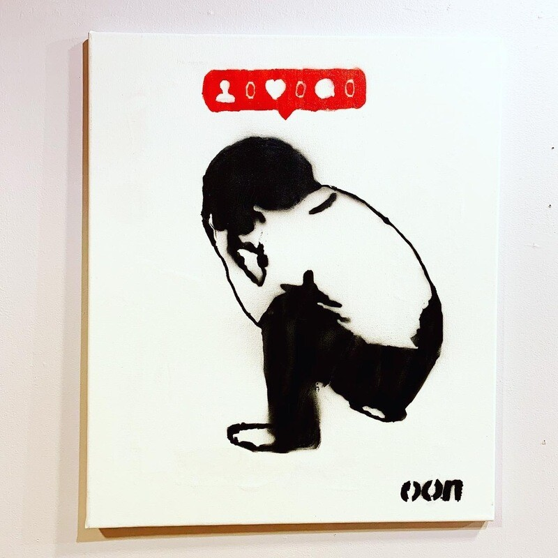 NO LOVE - Gatekunst - Canvas