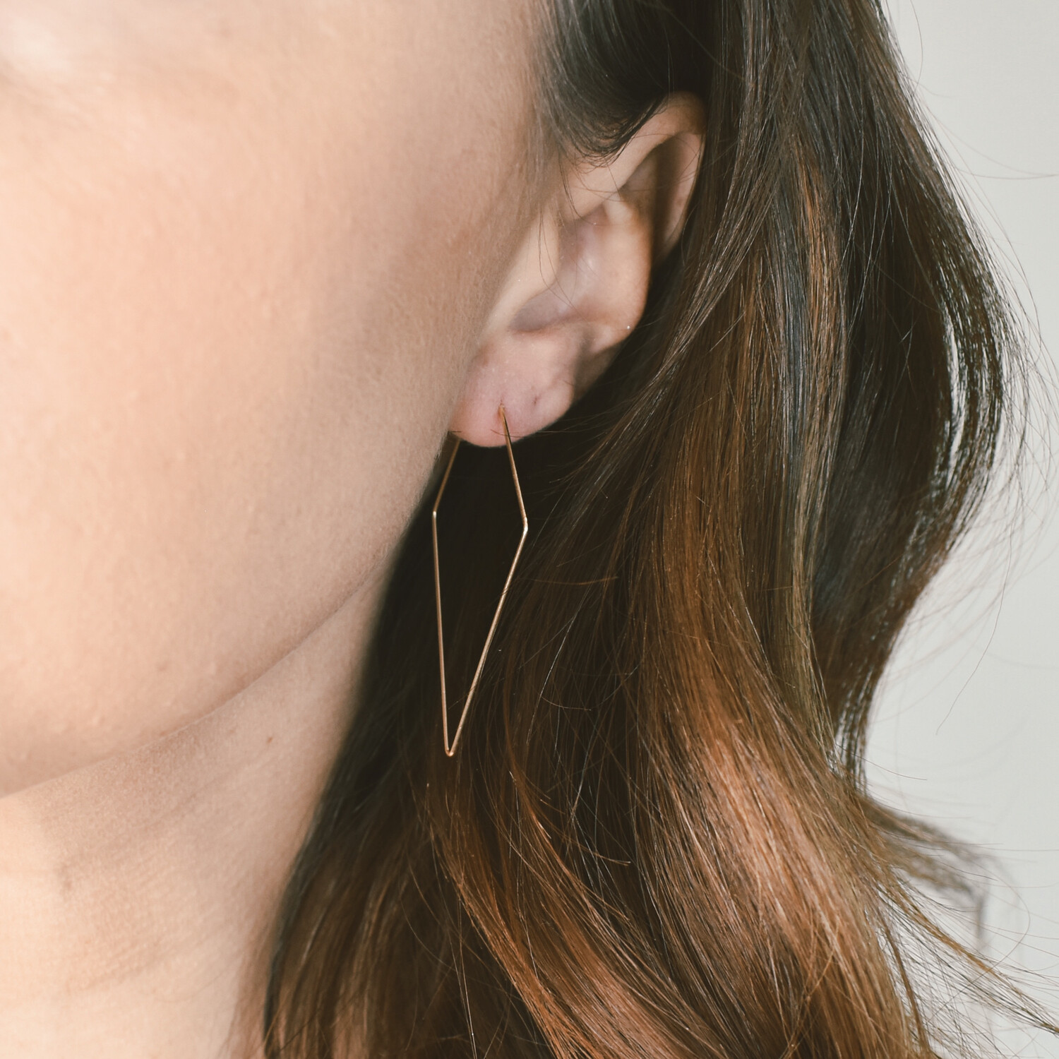 Gold Polygon Earrings