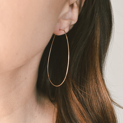 Teardrop Gold Hoop Earring