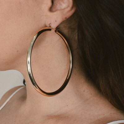 Hollow Gold Hoops