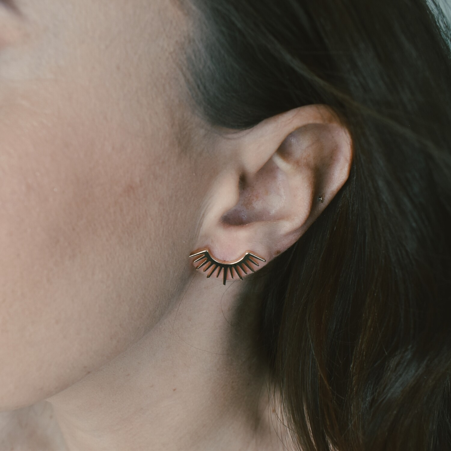 Eyelash Stud Earrings