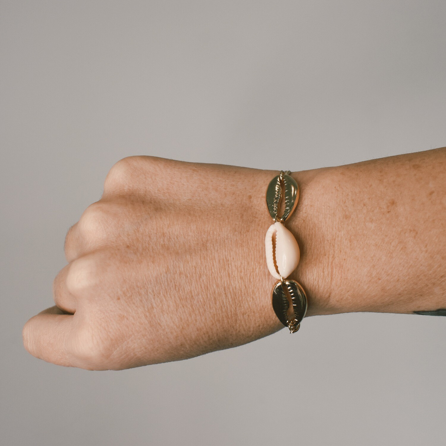 Gold and Natural Shell Bracelet