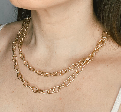 Double Layered Chainlink Necklace