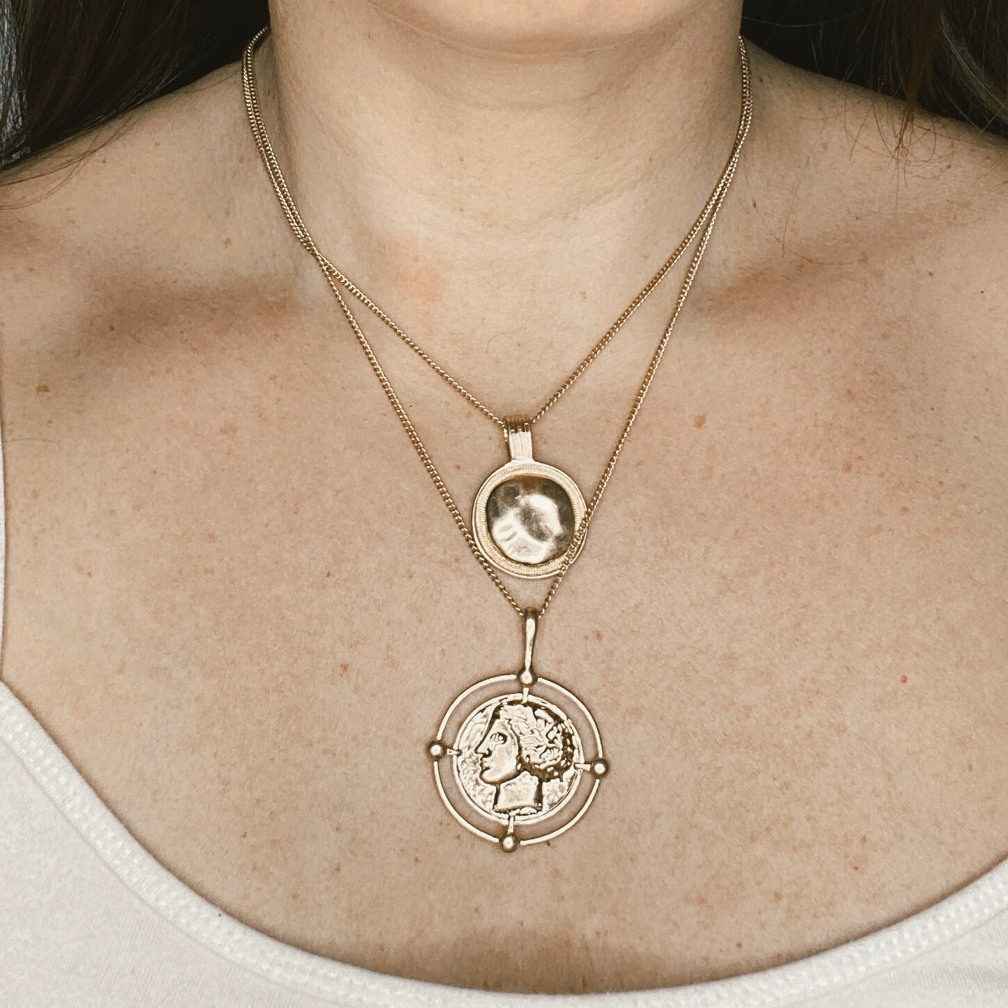 Medusa Coin Necklace