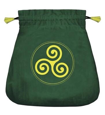 Celtic Triskel Velvet Bag