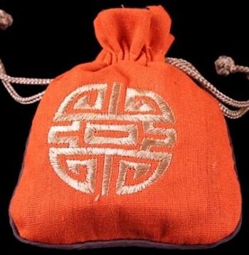 Linen Mala Bag Orange