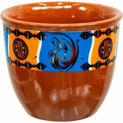 Ceramic Smudge Pot Native