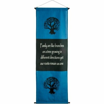 Family Roots Cotton Inspirational Banner