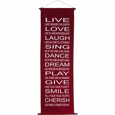 Live, Love Banner Scroll