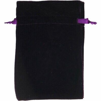 Velvet Bag Unlined Purple