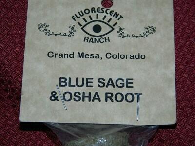 Blue sage and osha root smudge
