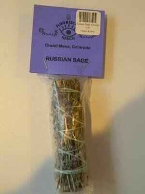 Russian Sage smudge