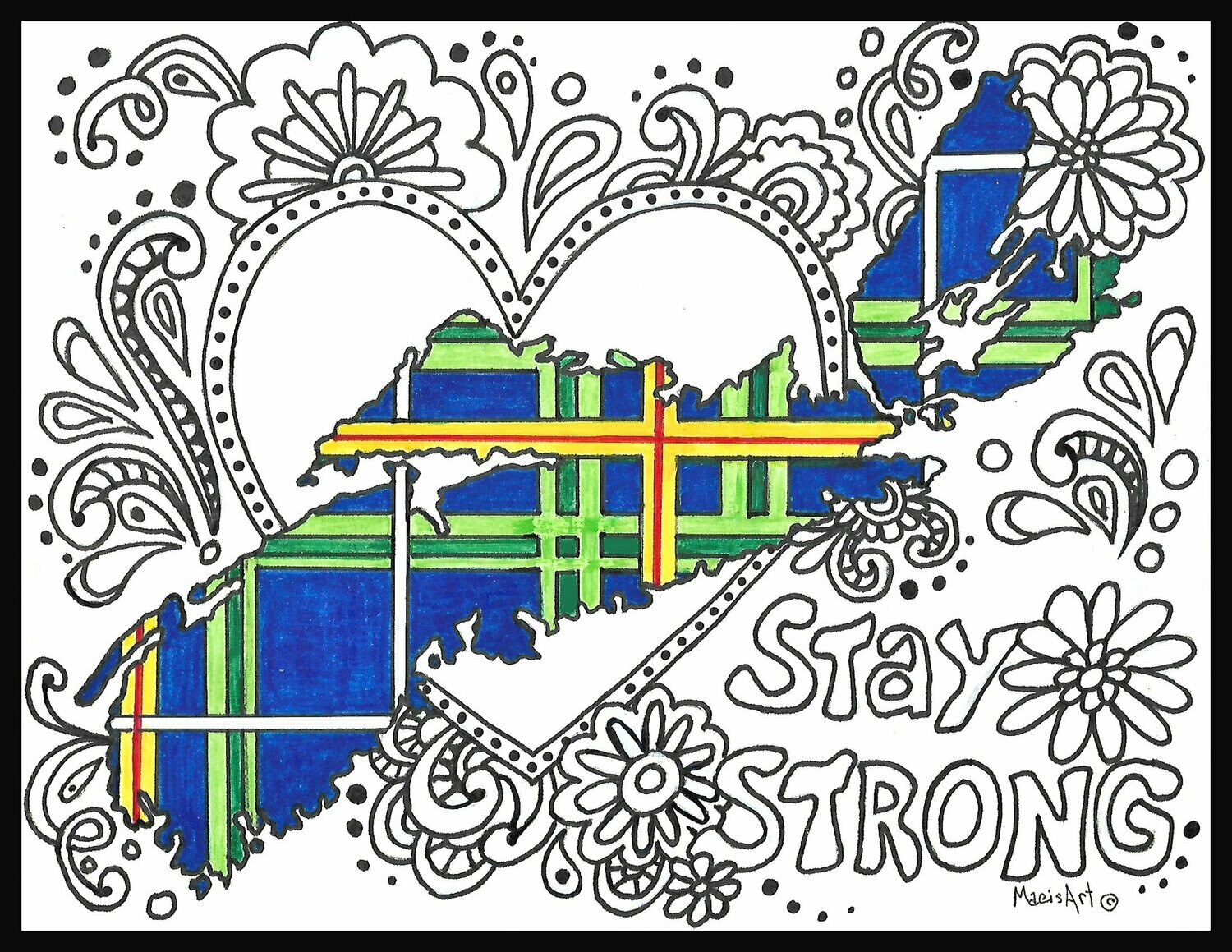 Stay Strong Zentangle