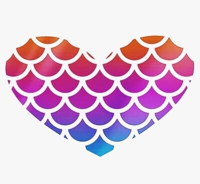 Heart Scales Vinyl Sticker