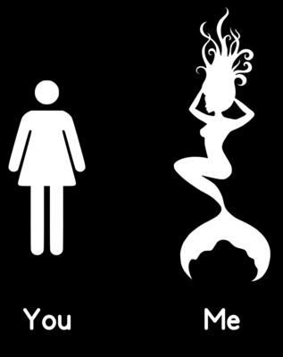 You/Me Mermaid Stencil Lady's Racer Back Tank