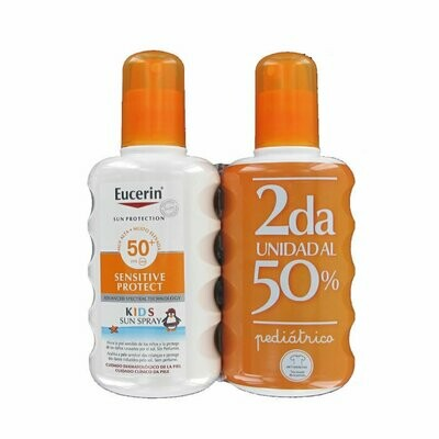 Eucerin Kids Spray Sensitive Protect SPF50 200ml (Segunda Unidad 50%)