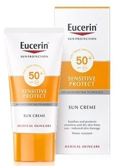 Eucerin Solar Facial Sensitive Protect Crema Piel Normal y Seca (SPF50+) 50 ml