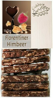 Bruchschokolade Florentiner-Himbeer 140g