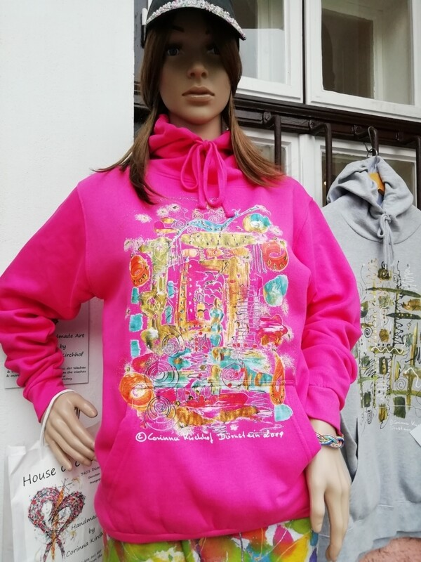 Hooded Sweatshirt pink Unisex designed by Corinna Kirchhof - Design