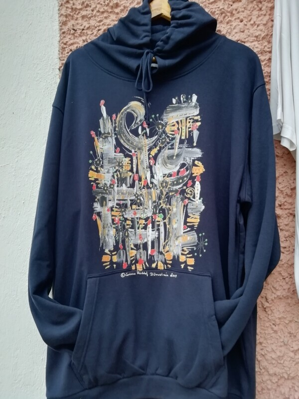 Hooded Sweatshirt dark navy designed by Corinna Kirchhof - Design