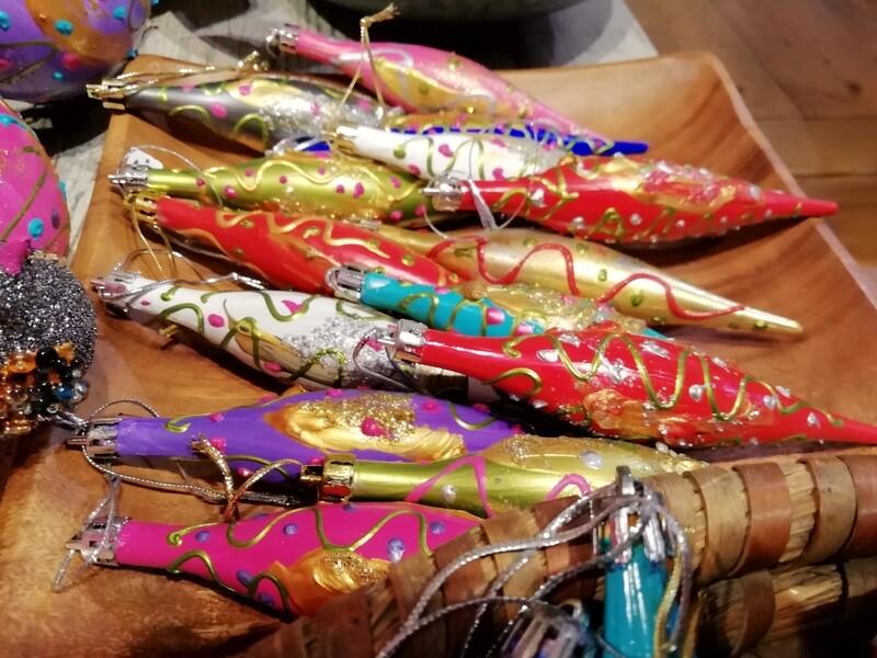Christmas Tree Ornaments /  Fairway buoys - Hand painted by Corinna Kirchhof