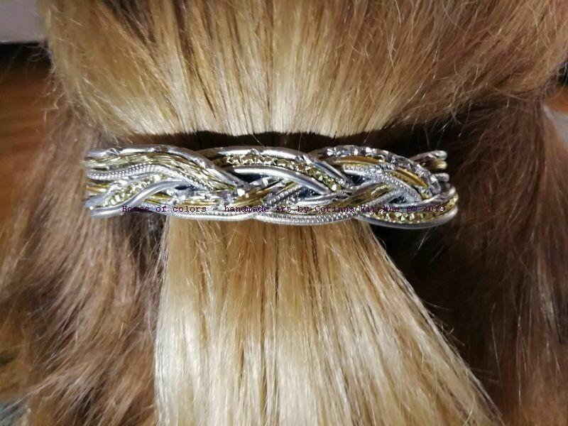 Hairclips silver / gold small - Handmade by Corinna Kirchhof