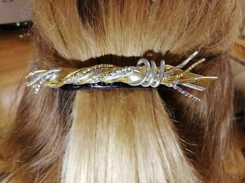 Hairclips silver / gold Freestyle small - Handmade by Corinna Kirchhof