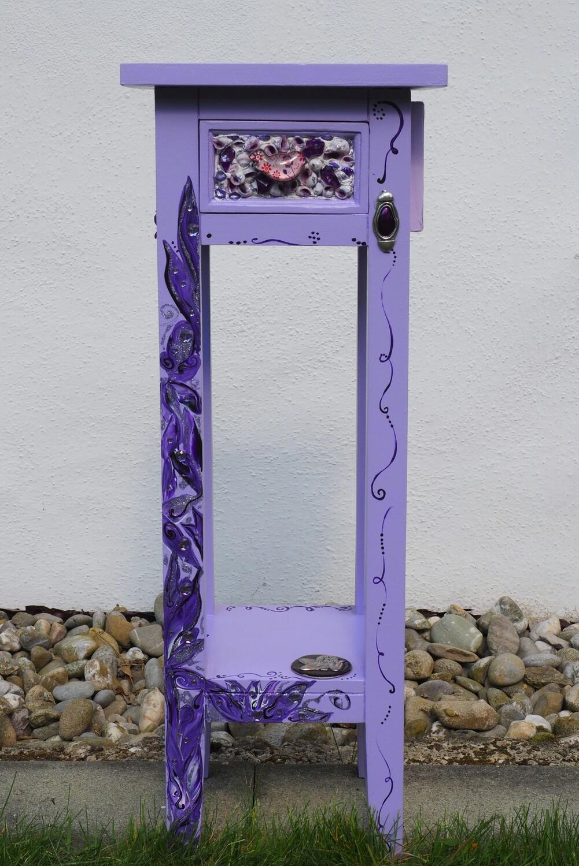 Kleinmöbel Telefon-Tischli lila