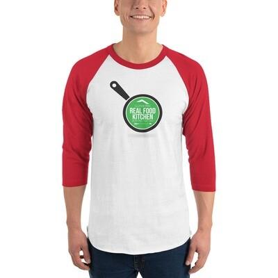 Real Food 3/4 sleeve raglan shirt