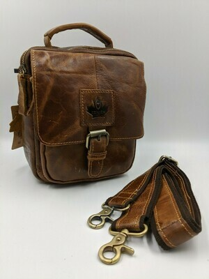 Мужская кожаная сумка zznick 3717