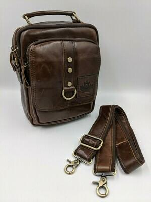 Мужская кожаная сумка zznick 6505