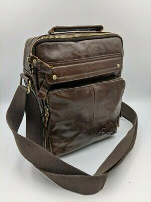 Мужская кожаная сумка zznick 7915