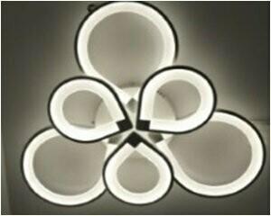 Светодиодная люстра с пультом  3+3