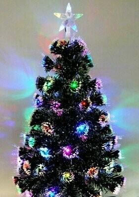 елка светится