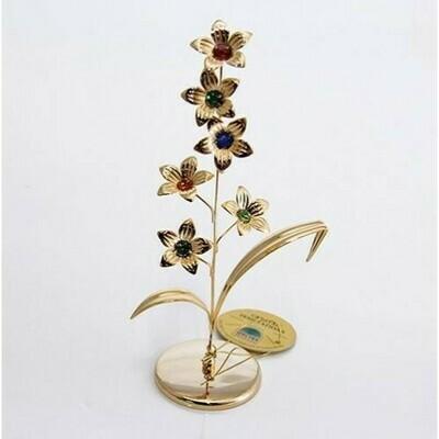 Фигурка Цветка ,цветной Swarovski