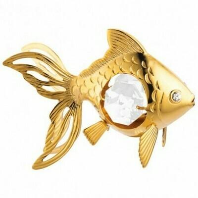 Фигурка Золотая рыбка Swarovski