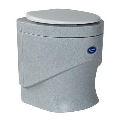 Биотуалет  вентилятором серый