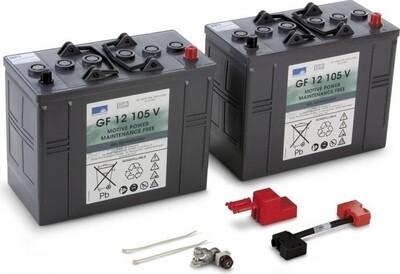 Комплект АКБ + ЗУ EXIDE 105 Ач / 24 В (гель)