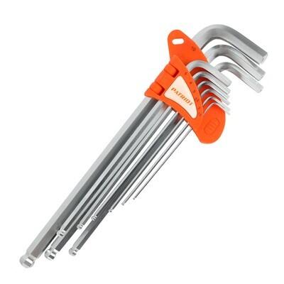 Набор ключей PATRIOT SKH-9EL, шестигранные с шаром, экстра длинные, 1,5-10мм, CRV, 9 шт