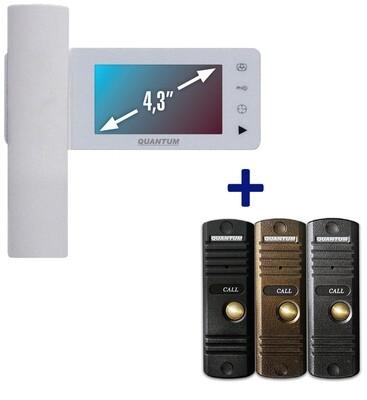 Видеодомофон QM-434C_SET1